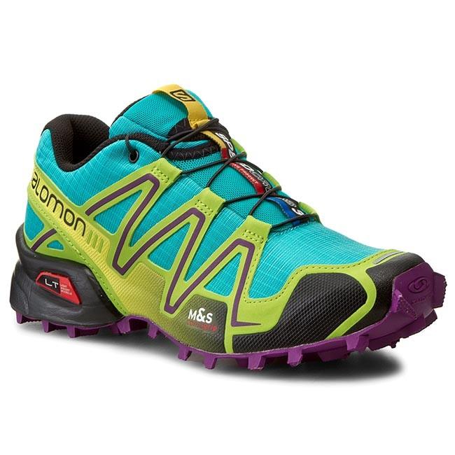 Abandonar Gángster Adversario  Trekker Boots SALOMON - Speedcross 3 W 376373 22 G0 Teal Blue F/Granny  Green/Passion Purple - Low - Outdoor - Women's - Sport | efootwear.eu