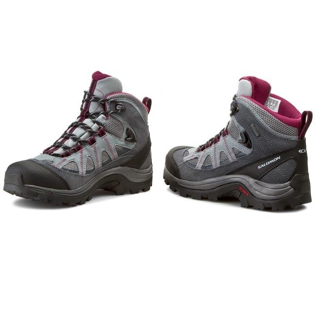 Trekker Boots SALOMON Authentic Ltr Gtx GORE TEX W 373261 Pearl GreyGrey DenimMystic Purple