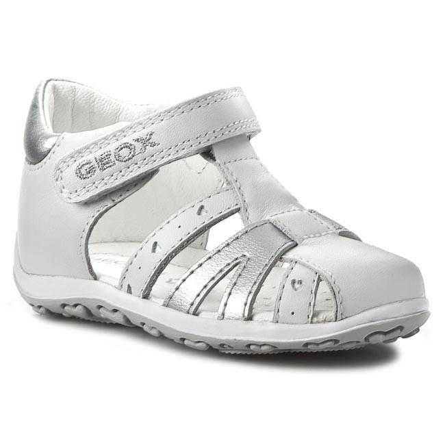 feinste Stoffe 2019 Neupreis angemessener Preis Sandals GEOX - B Bubble E B52E6E 043BC C0007 Biały/Srebrny