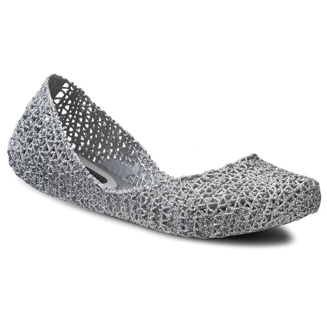 Flats MELISSA - Campana Papel VII Ad 31512 Silver Glitter 50711