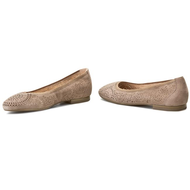 Flats CAPRICE - 9-22500-26 Taupe Suede