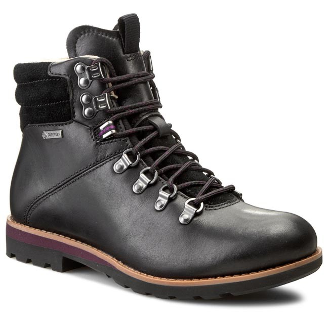 black leather hiking shoes