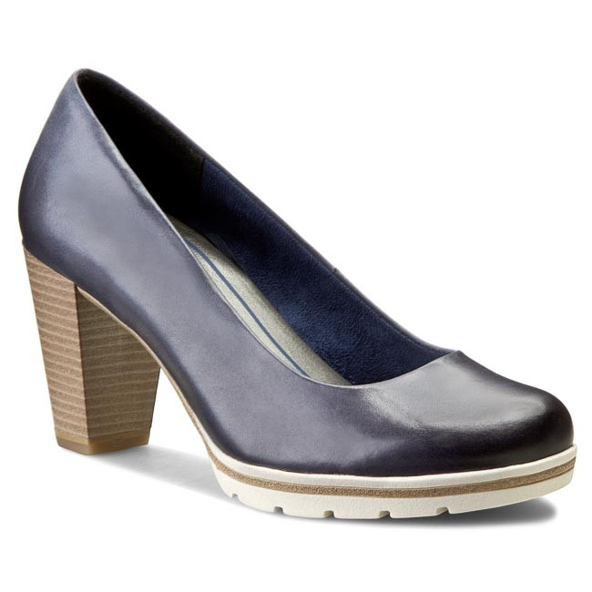 good texture factory price clearance prices Shoes MARCO TOZZI - 2-22419-26 Navy Antic 892
