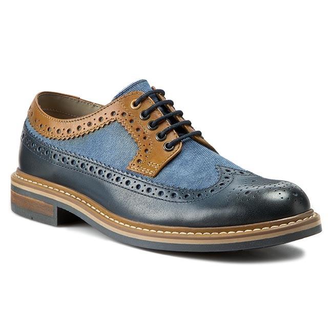 Shoes CLARKS Darby Limit 261069517 Blue Combi
