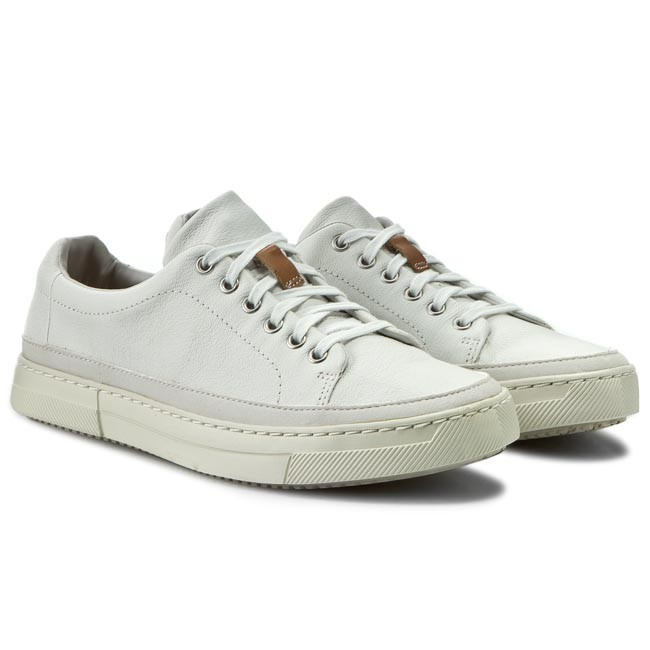 Sneakers Clarks Ballof Lace 261171007 White Leather