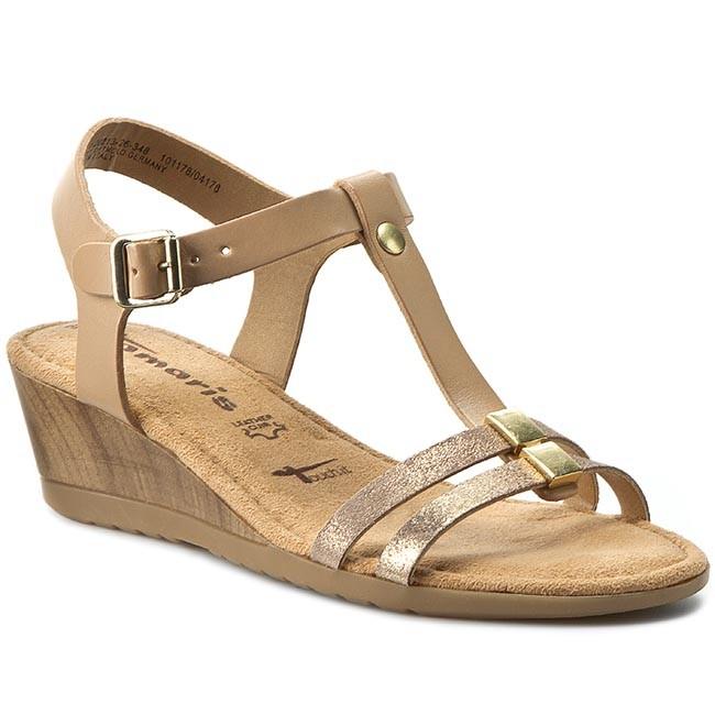 sandals tamaris 1 28213 26 nature lt gold 348 casual sandals sandals mules and sandals. Black Bedroom Furniture Sets. Home Design Ideas