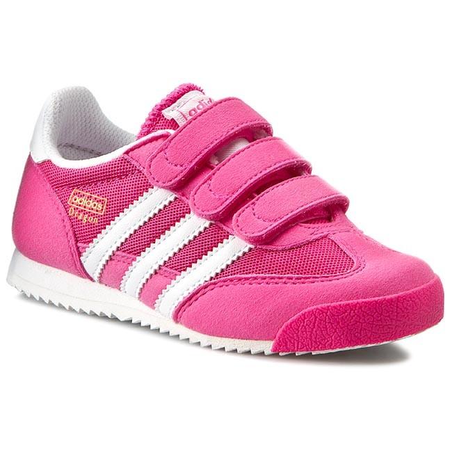 Agencia de viajes Todos Chelín  Shoes adidas - Dragon Cf C S74830 Shopin/Ftwwht - Velcro - Low shoes - Girl  - Kids' shoes | efootwear.eu
