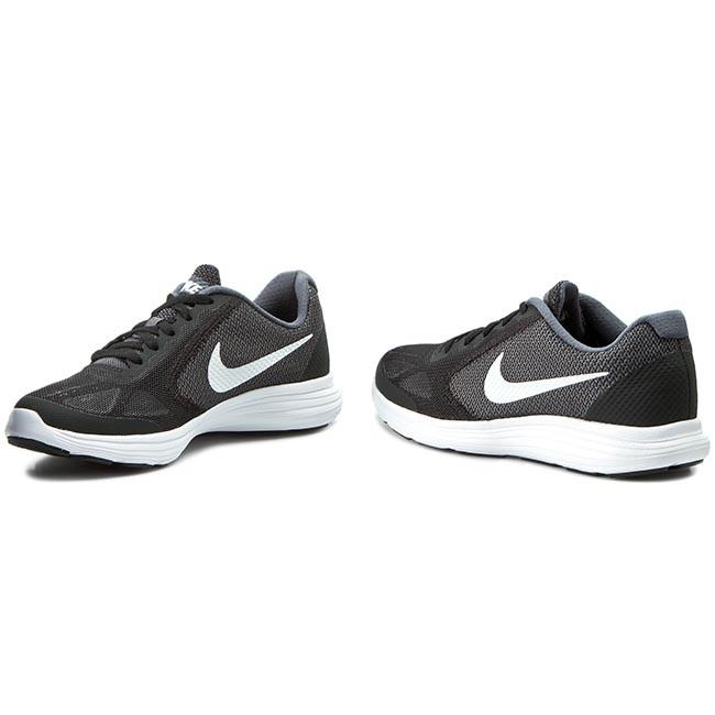 a40005257 Shoes NIKE - Revolution 3 (GS) 819413 001 Dark Grey/White/Black Pr Platnm