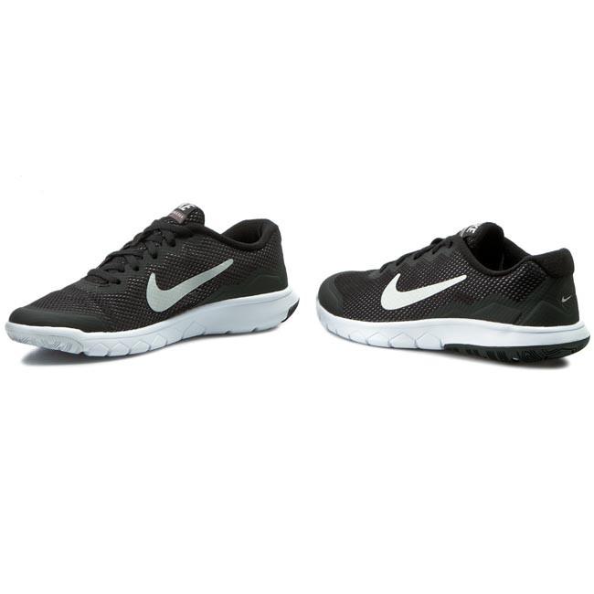 Shoes NIKE Flex Experience 4 (GS) 749807 001 BlkMtlc Drk Gry Anthrct White
