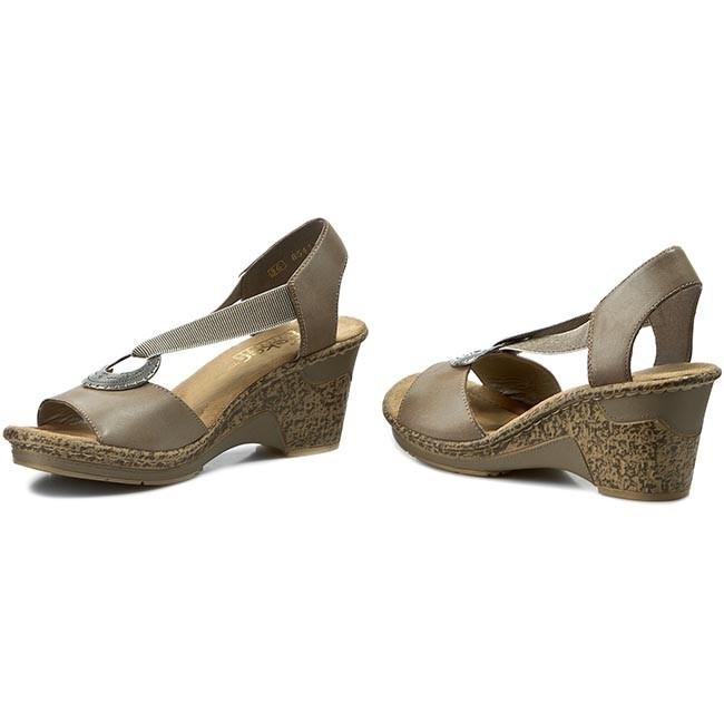 Sandals RIEKER 60662 62 Beige Kombi