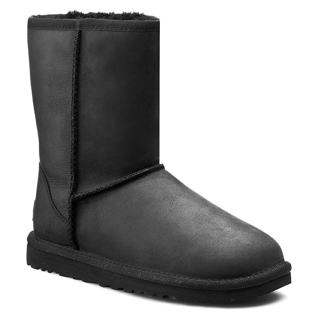 Shoes Ugg W Classic Short Leather 1005093 Blk Ugg
