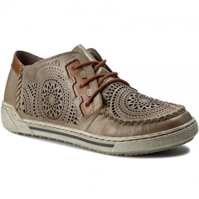 shoes rieker 42443 62 beige flats low shoes women. Black Bedroom Furniture Sets. Home Design Ideas