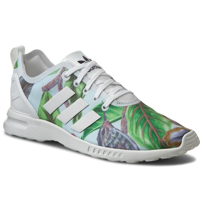 new product dfad9 6064e Shoes adidas - Zx Flux Smooth W S82890 Cwhite/Cblack