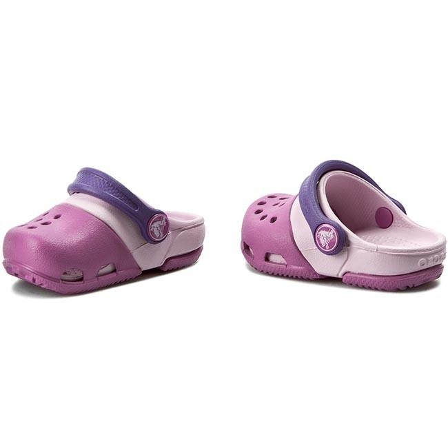 Crocs Girls Sandals Electro Clog Wild Orchid//Ballerina Pink
