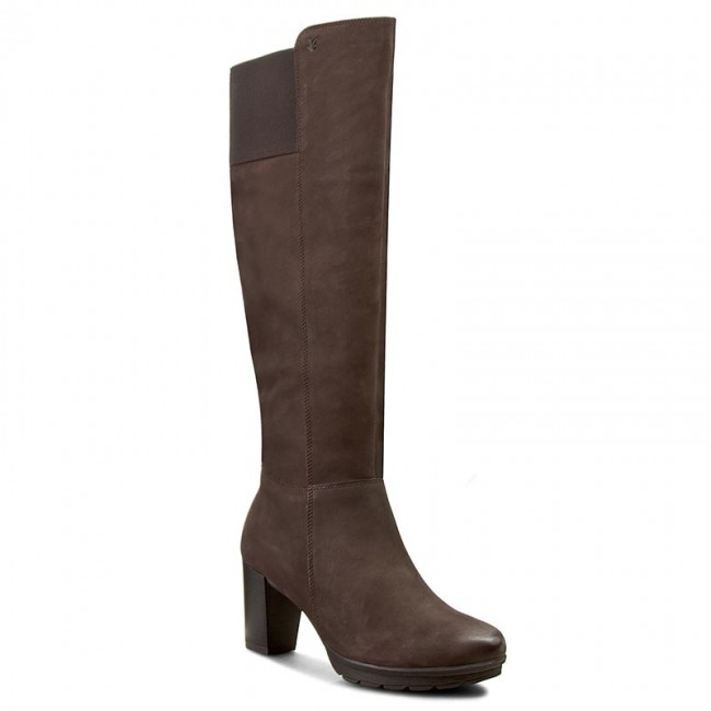 Knee High Boots CAPRICE - 9-25650-27 Dk Brown Nubuc 339