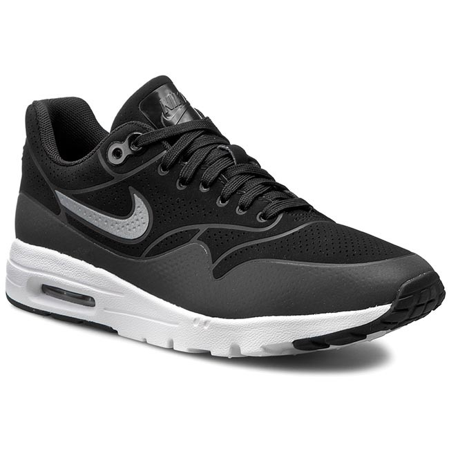 Shoes NIKE Air Max 1 Ultra Moire 704995 001 BlackBlackMtllc SilverWhite