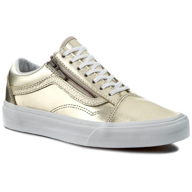 Sneakers VANS - Old Skool Zip VN00018GIGY (Mtlc Lthr) Wheat Gold/TrW
