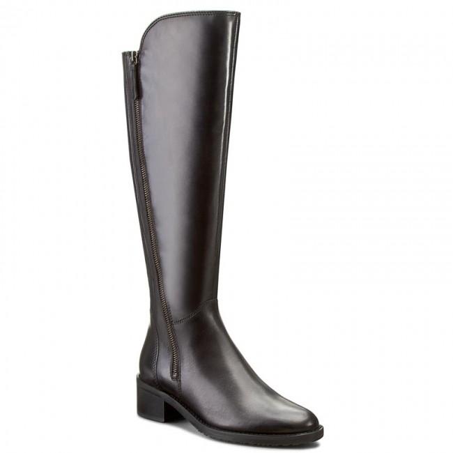 BNIB Clarks Ladies Lallana Beat Black Leather Mid Calf Boots