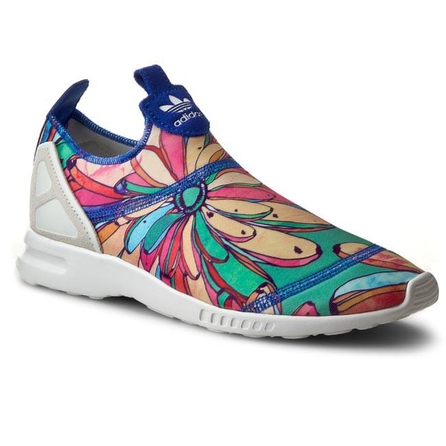 Shoes adidas Zx Flux Adv Smooth Slip On S75686 LabbluOwhiteLabblu