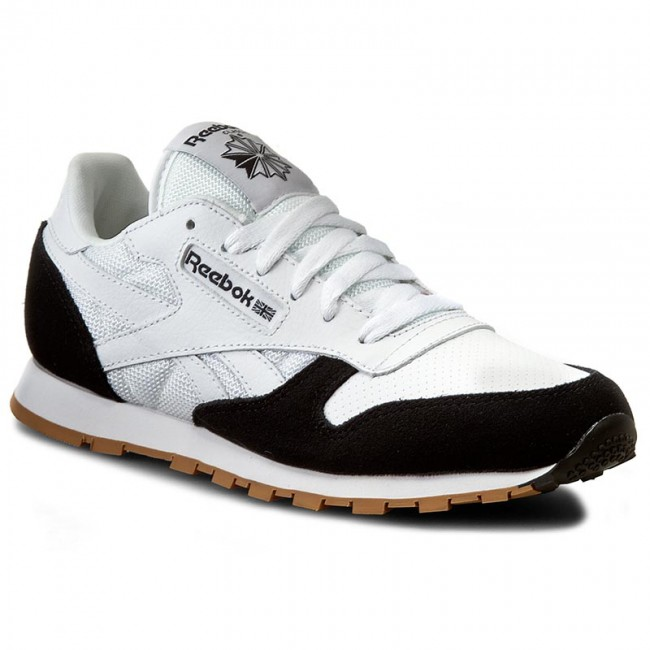 Mens Reebok Classic Athletic Shoe Black Gum