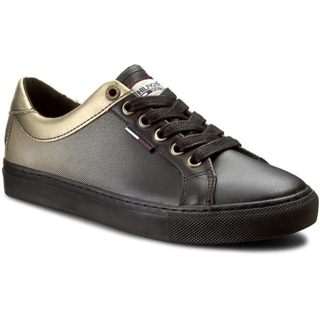 Sneakers TOMMY HILFIGER - DENIM Luciana 6A EN56821861 Black/Gold 990