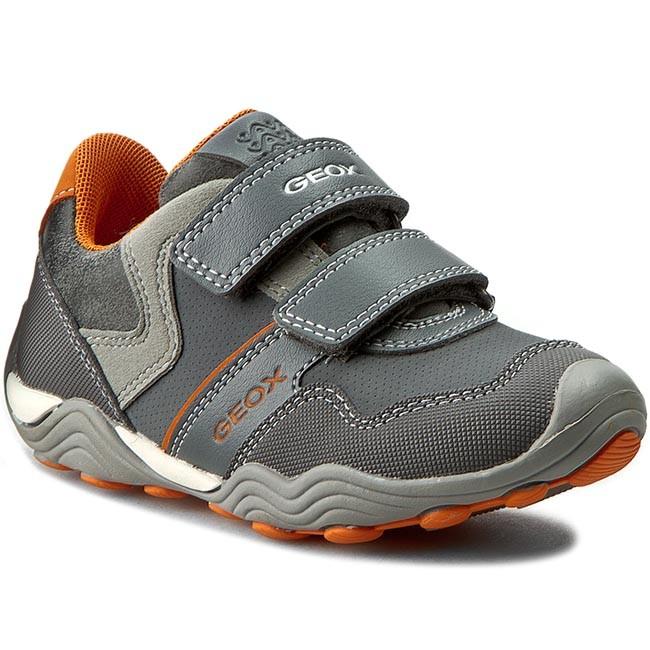 Shoes GEOX - J Arno A J62F0A 050AU C0036 Szary/Pomarańcz