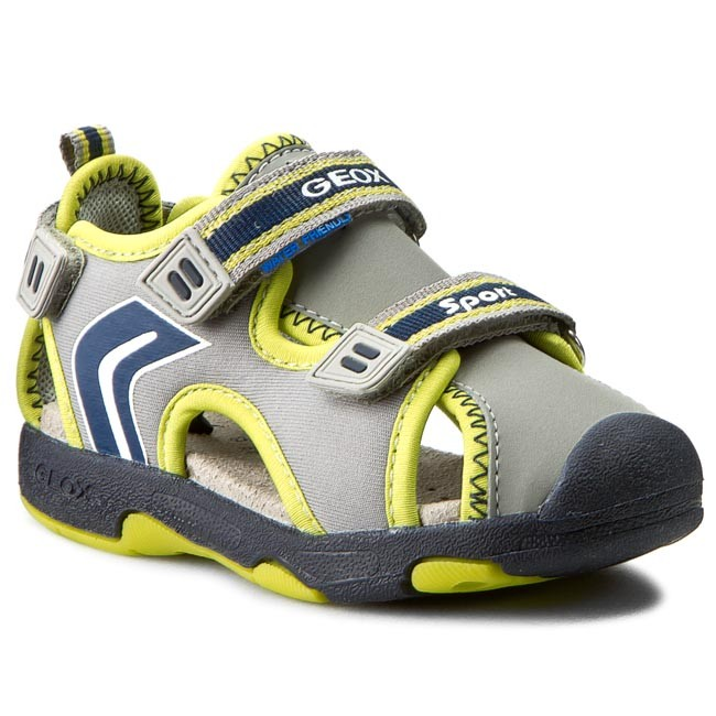 Sandals GEOX - B Sand. Multy B. B B620FB 01550 C1172 Grey/Lime Green
