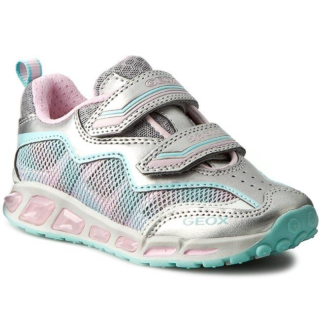 Shoes GEOX - J Shuttle G.B J6206B 014BU C0566 Srebrny/Różowy