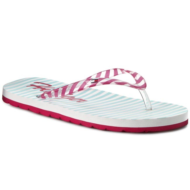 Slides TOMMY HILFIGER - Marlow 5D-A FG56820959 Pink Spice/Longboard Green 660