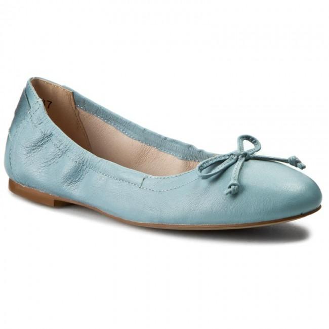 Flats CAPRICE - 9-22109-26 Blue Nappa 814