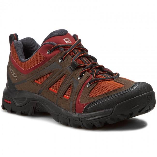 Trekker Boots SALOMON - Evasion Aero 381626 26 M0 Oxide-X/Absolute Brown-X/Tomato Red