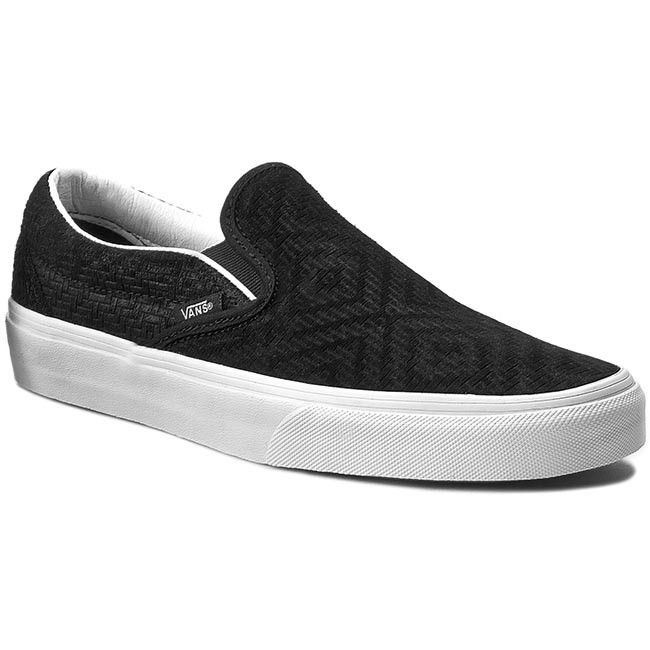 Plimsolls VANS - Classic Slip-On VN0003Z4INY Black (Braided Suede)