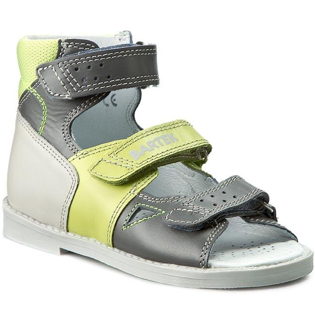 Sandals BARTEK - 86804 Szaro Zielony