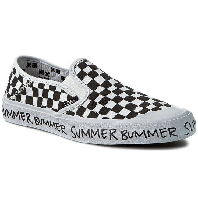 Plimsolls VANS - Slip-On Sf VN00019SIK0 Checkerboard Summer Bummer