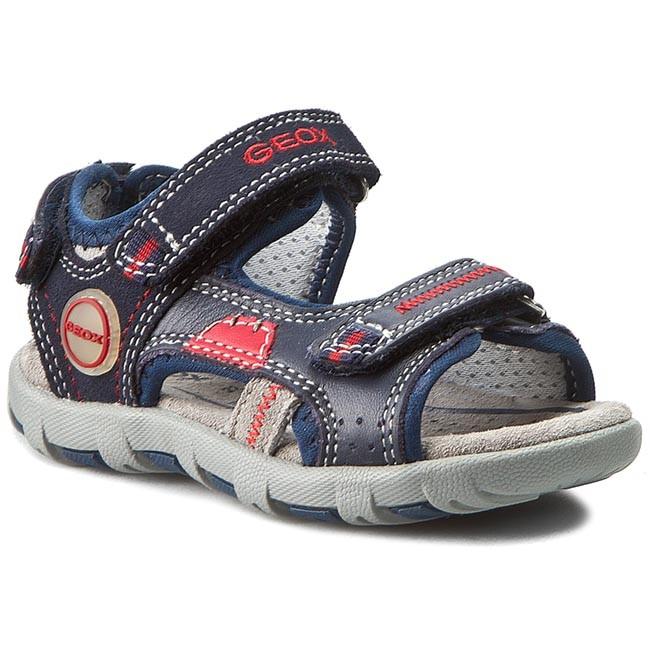 Sandals GEOX - B Sand. Pianeta C. B6264C 08522 C0735 Morski/Czerwony