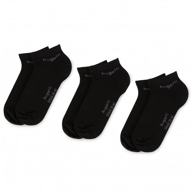3 Pairs of Women's Low Socks BUGATTI - 6765 Black 610