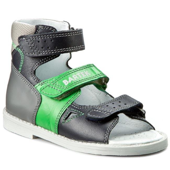 Sandals BARTEK - 86804-8/C40 Niebiesko Zielony