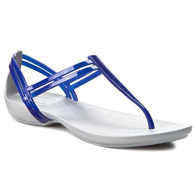Slides CROCS - Isabella T-Strap 202467 Cerulean Blue