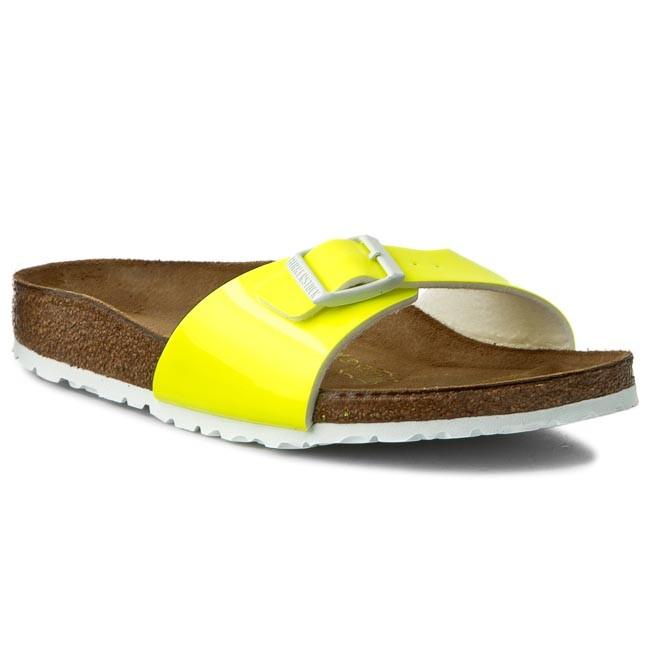 Slides BIRKENSTOCK - Madrid 0439843 Patent Neon Yellow
