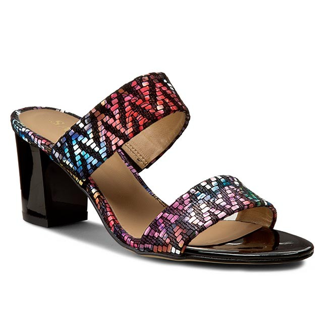 Slides SAGAN - 2522 Multicolor Kwiaty