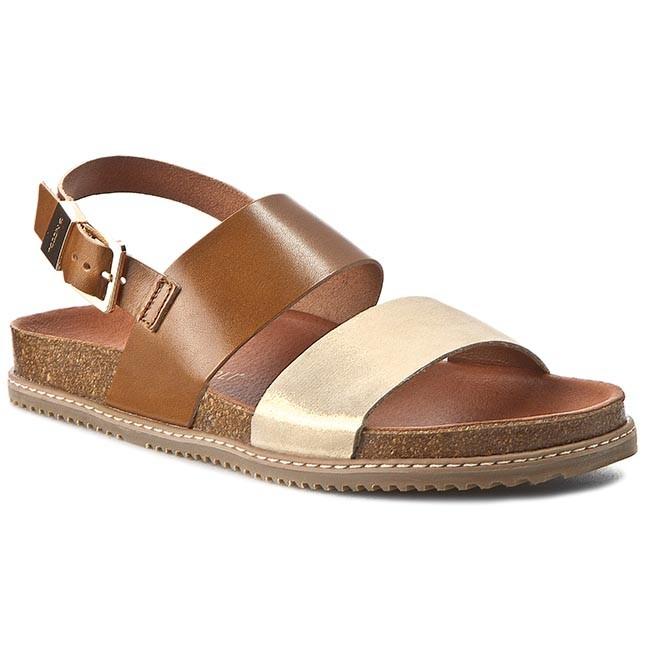Sandals NIK - 07-0245-003 Rudo/Złoty