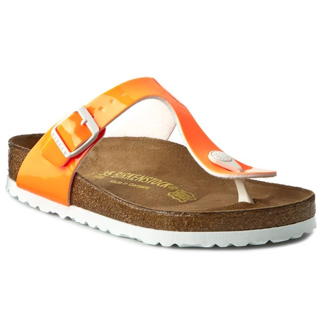 Slides BIRKENSTOCK - Gizeh 0847251 Patent Neon Orange