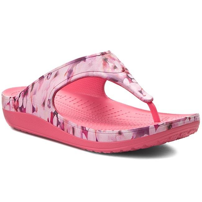 Slides CROCS - Sloane Soft Floral Flip 203122 Coral