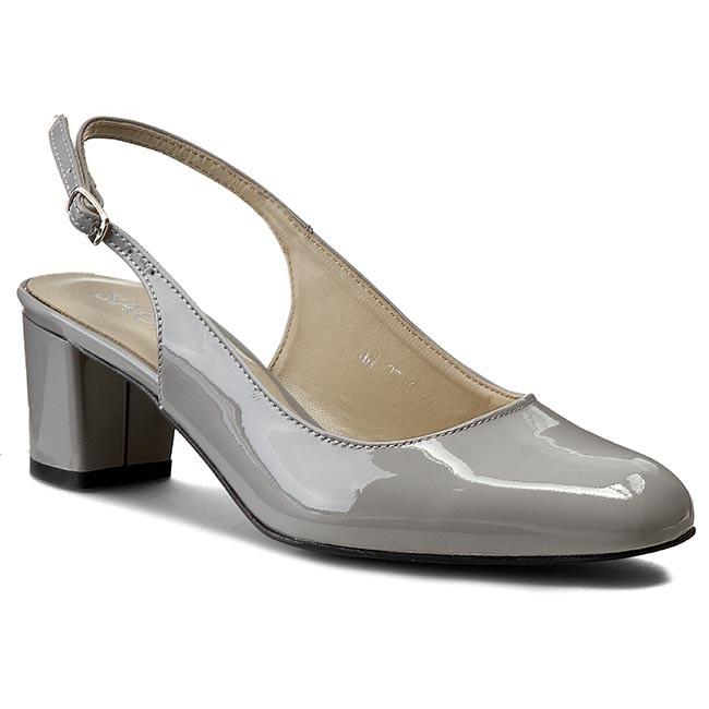 Sandals SAGAN - 2510 Fiołkowy Lakier