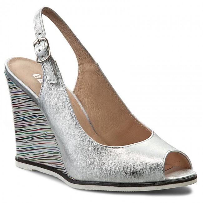 Sandals EKSBUT - 4139-369/E42-1G Srebro
