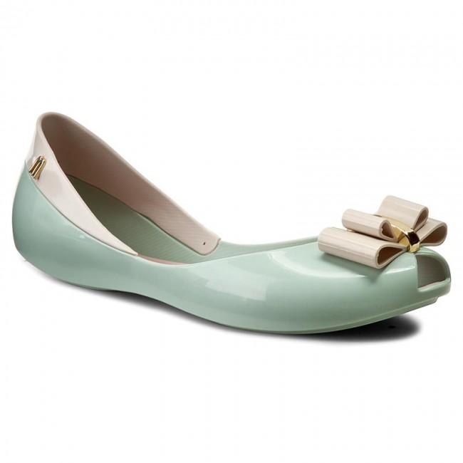 Flats MELISSA - Queen V Ad 31818 Green/Beige 50937