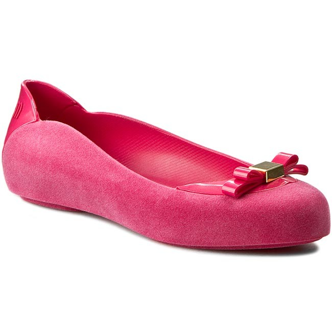 Flats MELISSA - Pump It Flocked Ad 31912 Pink 01148