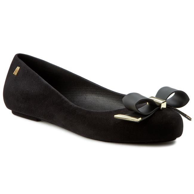 Flats MELISSA - Space Love III Ad 31821 Black Flocked 50834