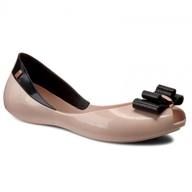 Flats MELISSA - Queen V Ad 31818 Pink/Black 52807