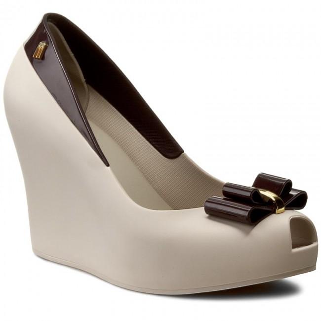 Shoes MELISSA - Melissa Queen Wedge III Ad 31819 Beige/Burgundy 52793